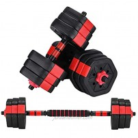 ZYOMY Weights Dumbbells Set Fitness Dumbbells 44lbs Dumbbells Barbell for Home Gym Workout Exercise Free Weight with Connecting Rod Used as Barbell Adjustable Dumbbell Set for Men Women